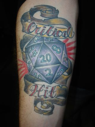 D&D D20 Dice Tattoo
