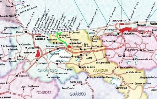 Mapa ocumare